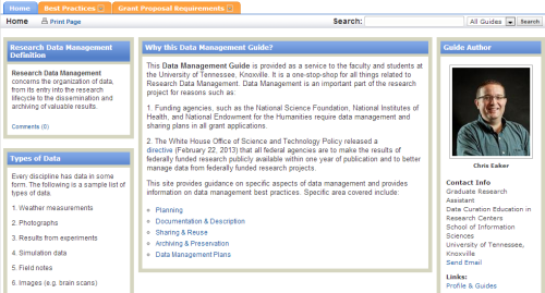 Data Management Libguide. Click for the whole guide.